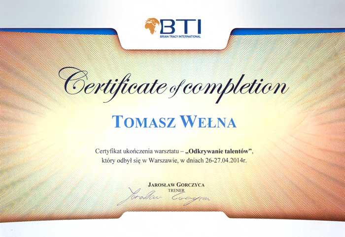 BTI-Certificate