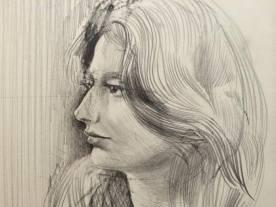 Portret dziewczyny, ołówek