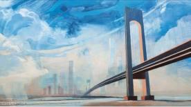 Mosty, akryl na płótnie