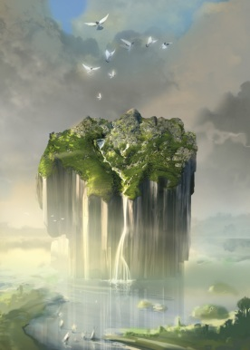 Niebo i ziemia, grafika cyfrowa