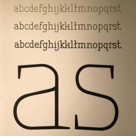 projekt kroju pisma